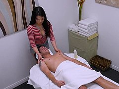 Spy cam inside of the Asian erotic massage parlour